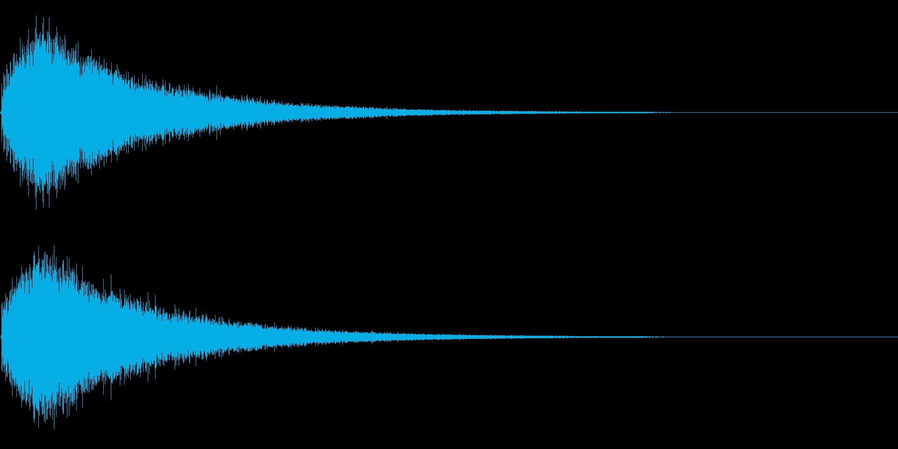 ドラの再生済みの波形