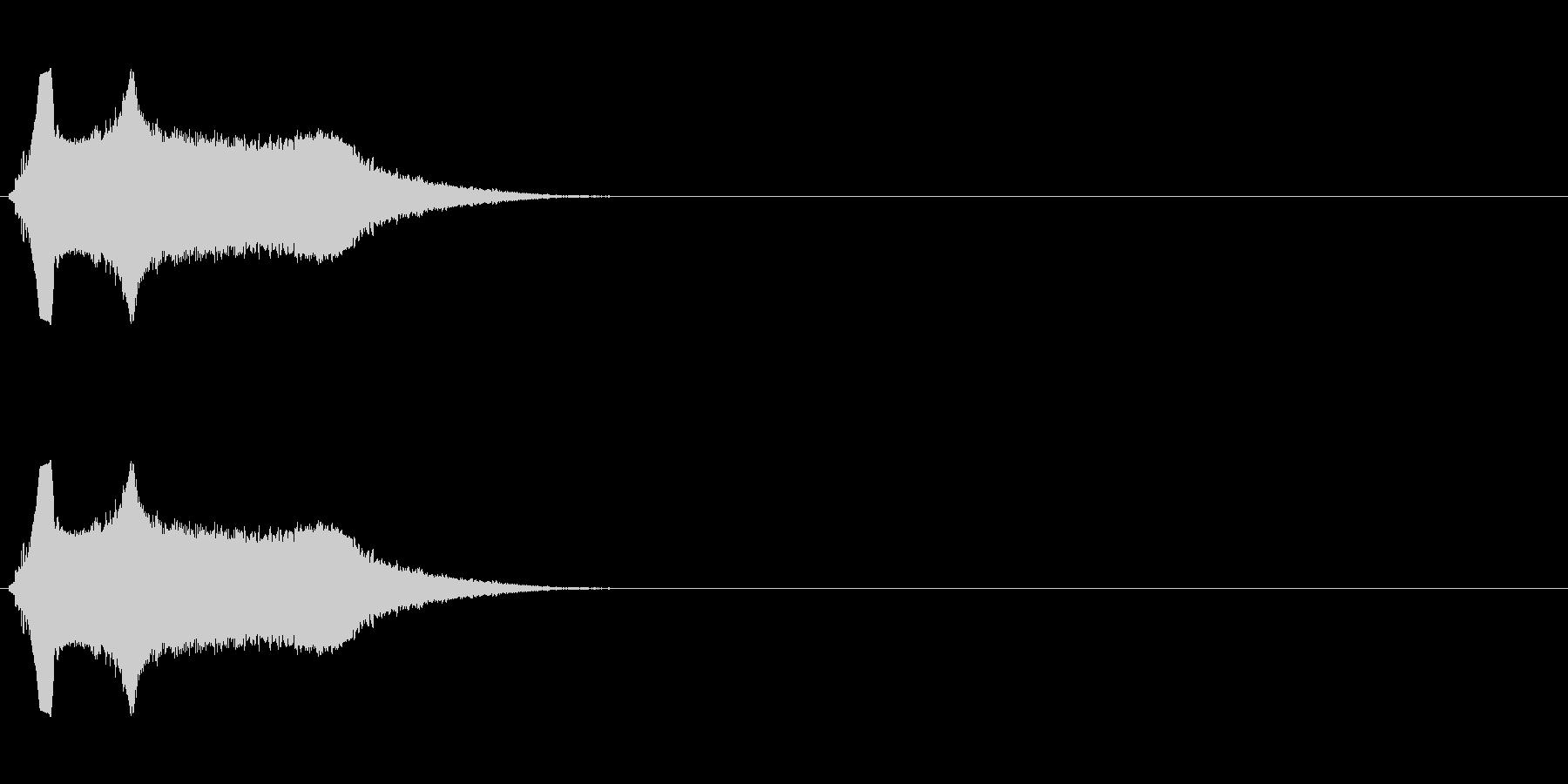 シンプルな飛ばされる音の未再生の波形