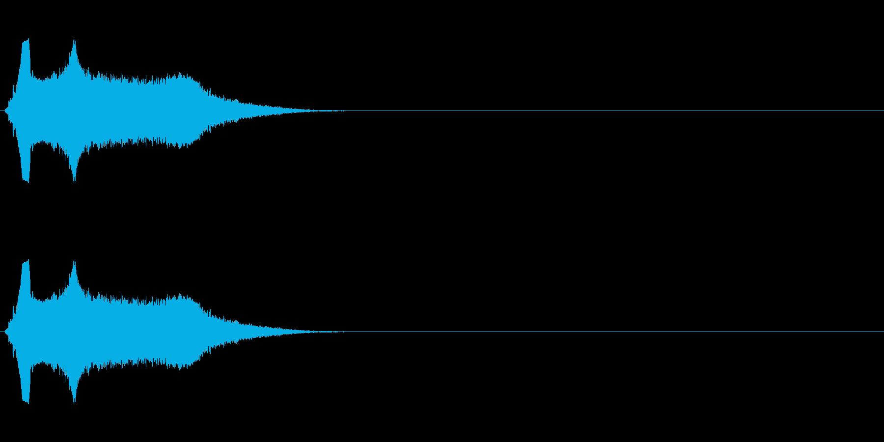 シンプルな飛ばされる音の再生済みの波形