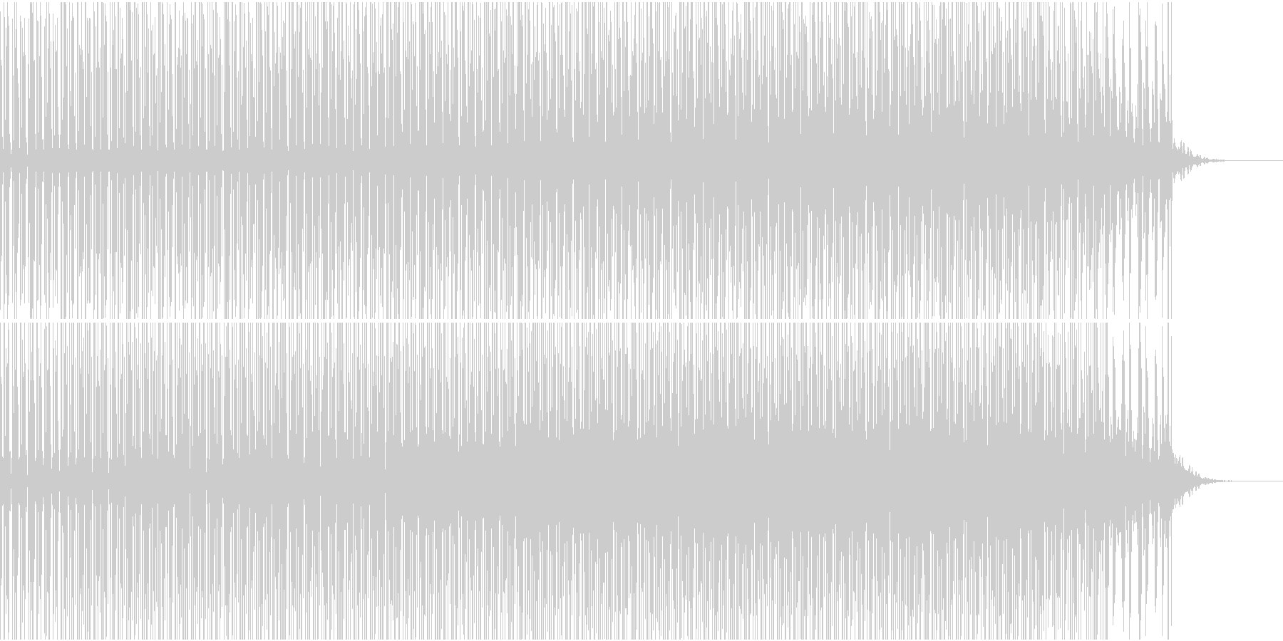 BPM120速めバックミュージックの未再生の波形