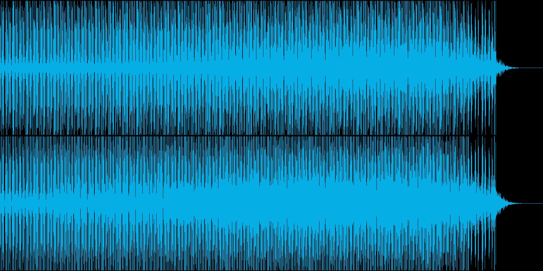 BPM120速めバックミュージックの再生済みの波形