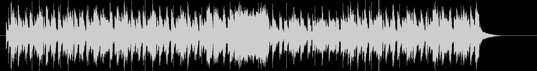 明るくエレクトーンが印象的なBGMの未再生の波形
