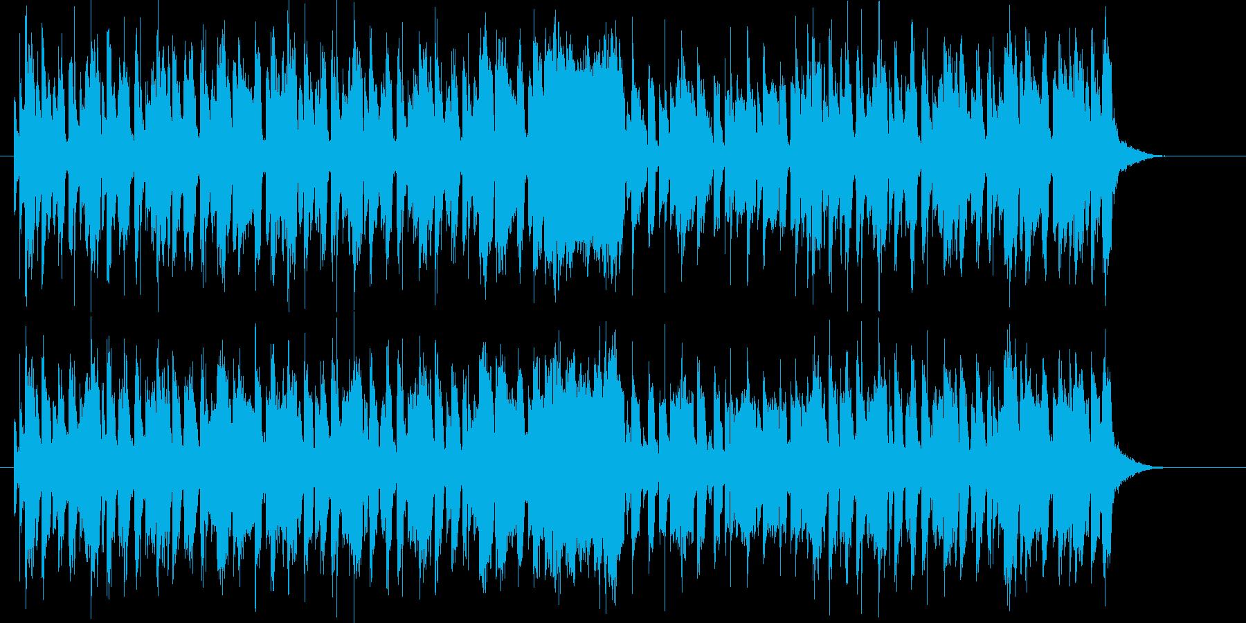 明るくエレクトーンが印象的なBGMの再生済みの波形