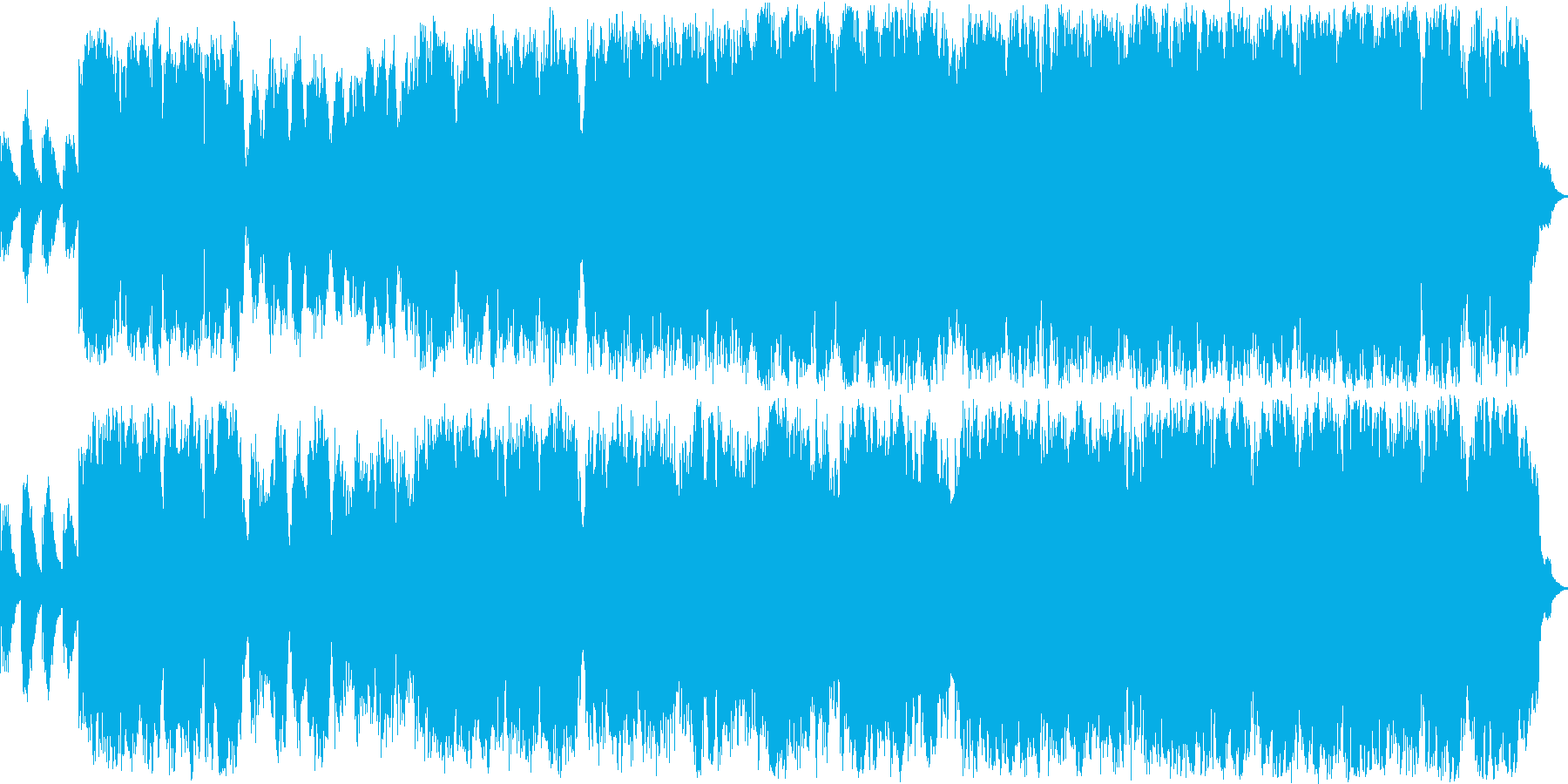 少年の声が旋律を奏でるクラシック音楽の再生済みの波形