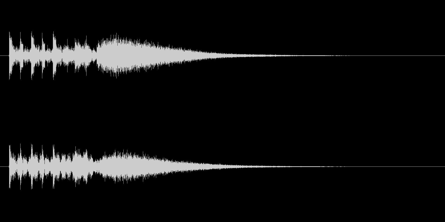 ステージクリア時の軽快なジングル5の未再生の波形