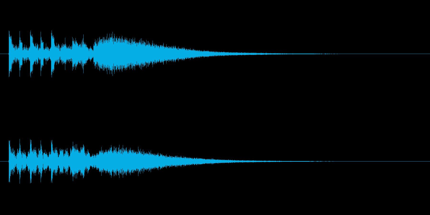 ステージクリア時の軽快なジングル5の再生済みの波形
