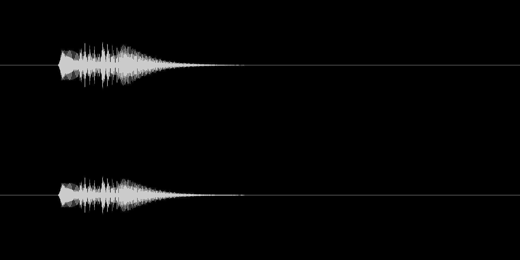 ホワホワン(やわらかい、アナログシンセ)の未再生の波形