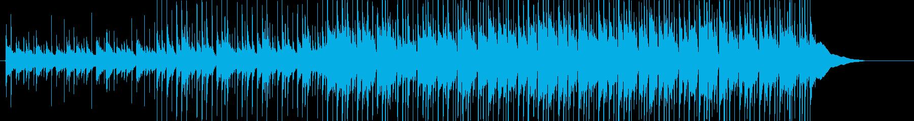 三線を用いたのんびり沖縄風ポップの再生済みの波形