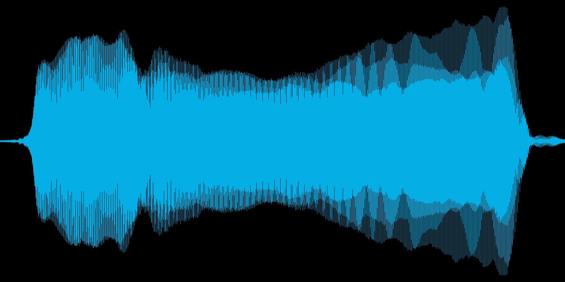 ニャーオ。猫の鳴き声の再生済みの波形