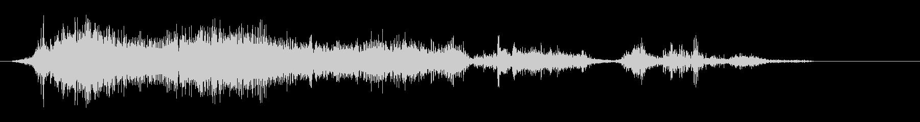 スーペラッ(ゆっくりと紙をめくる音)の未再生の波形