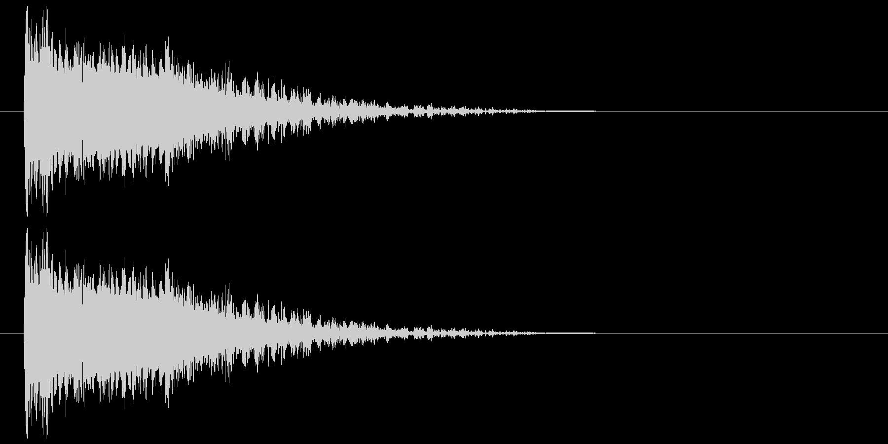 金属インパクトの未再生の波形