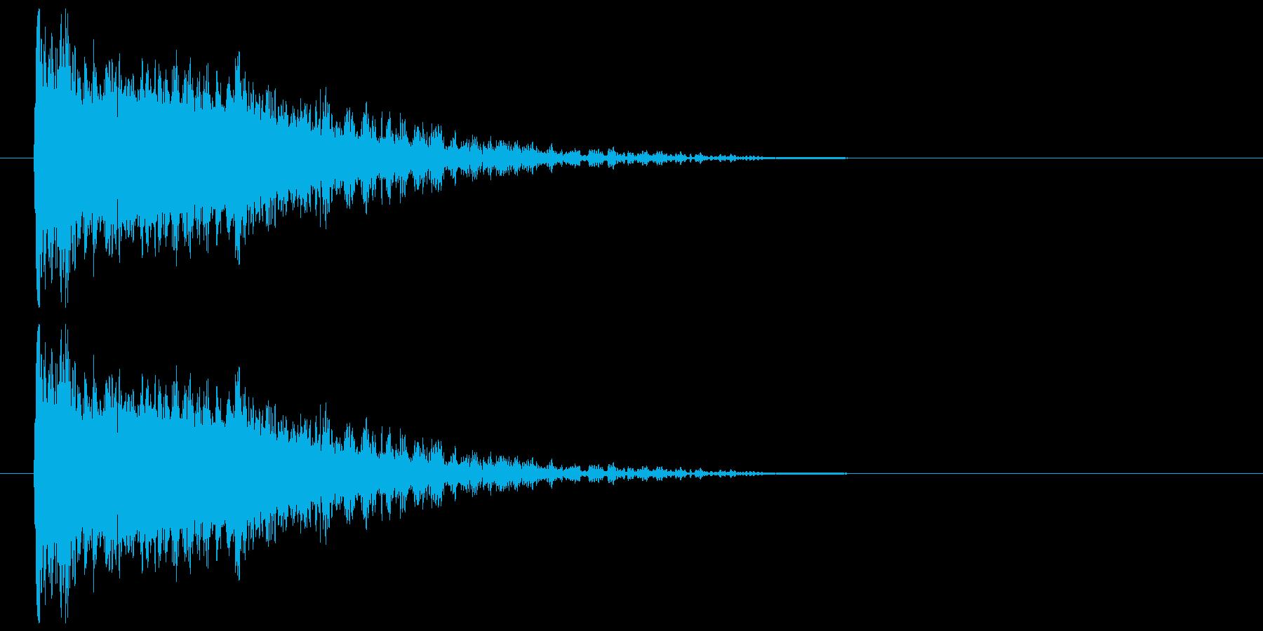 金属インパクトの再生済みの波形