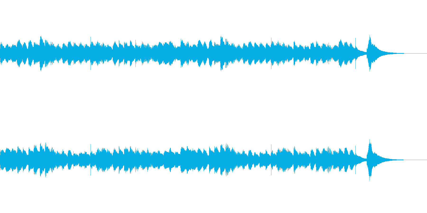 少し切ないオルゴール曲の再生済みの波形
