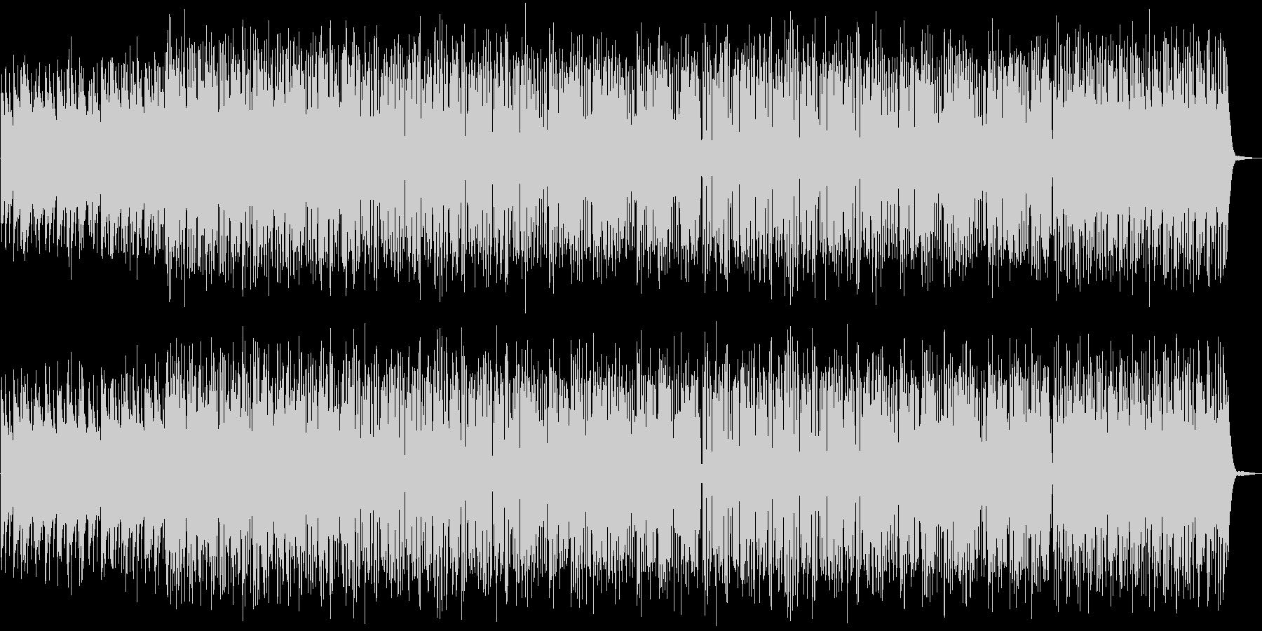 軽快なピアノトリオの未再生の波形