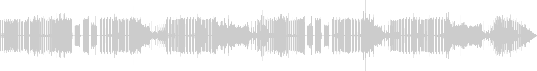 ヘンテコでおかしな雰囲気のBGMの未再生の波形