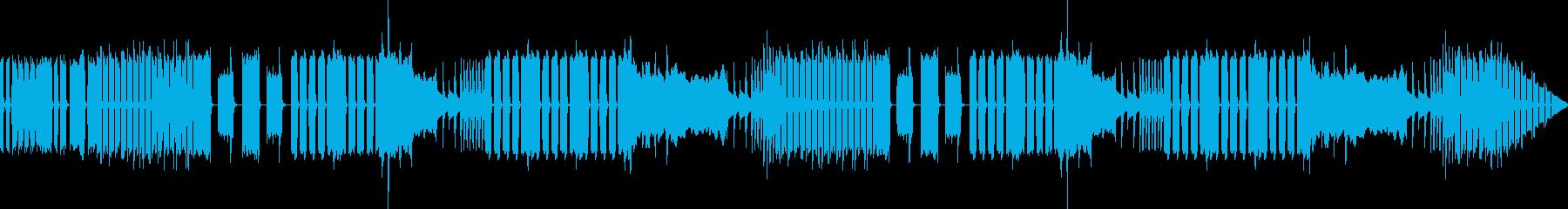 ヘンテコでおかしな雰囲気のBGMの再生済みの波形