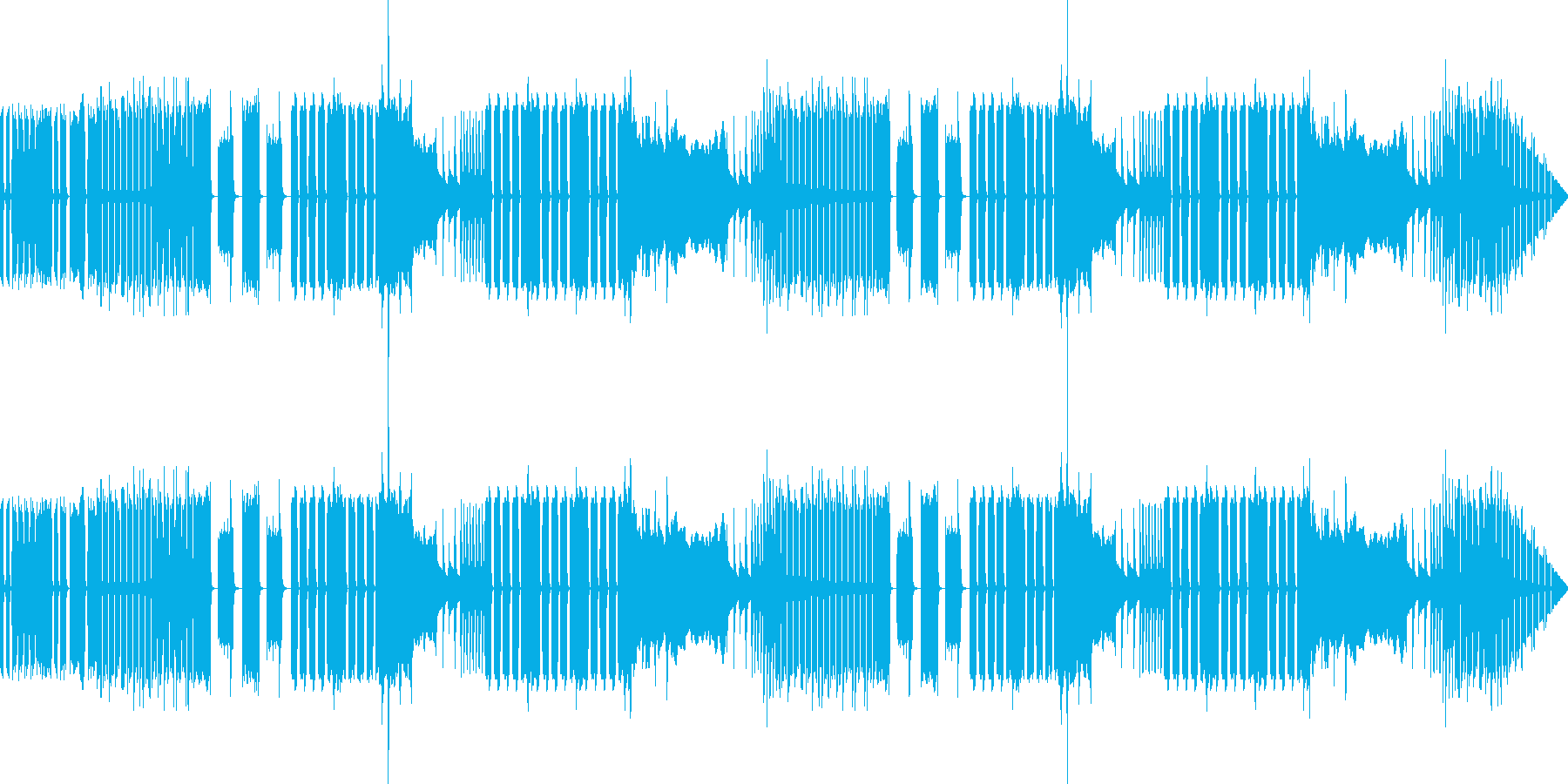 ハロウィンにオススメの少し奇妙で明るい曲の再生済みの波形