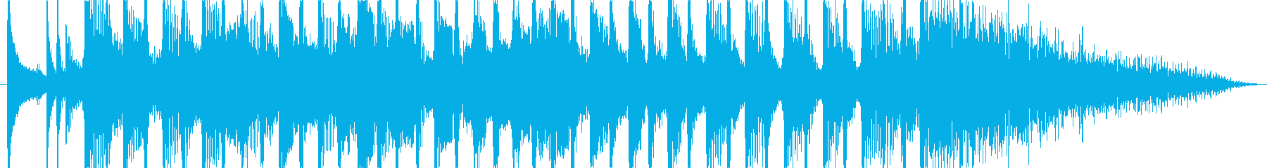 軽快なディスコ風の登場時のジングルの再生済みの波形