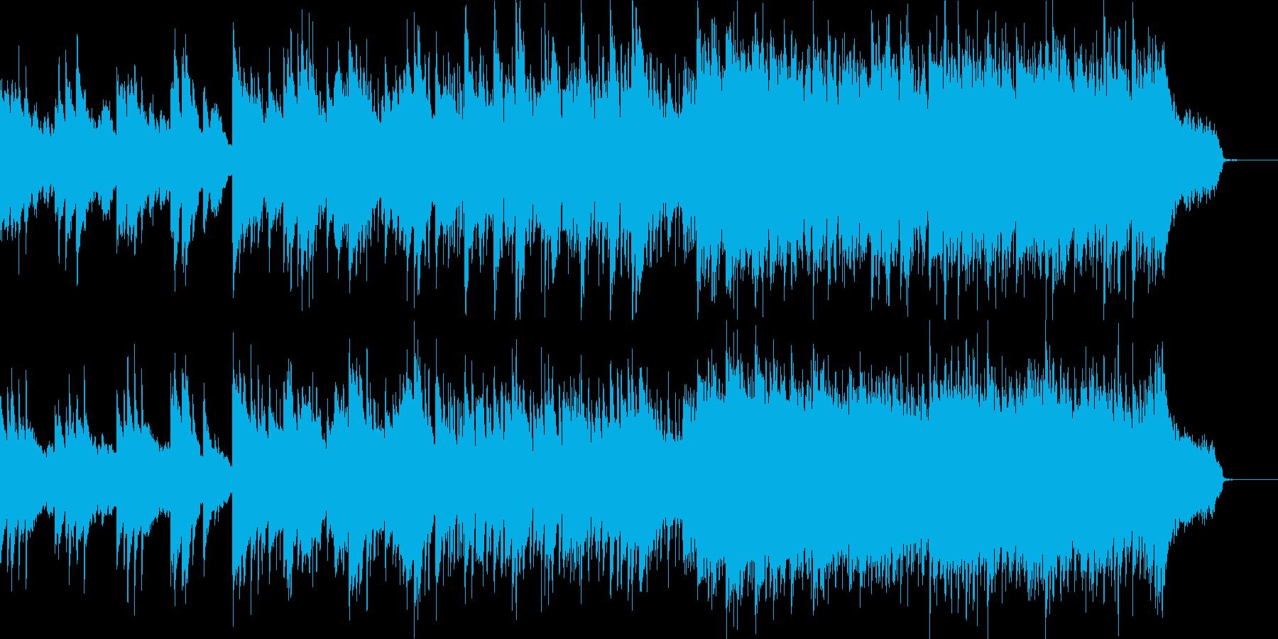 ゆったりとしていて爽やかな映像用BGMの再生済みの波形