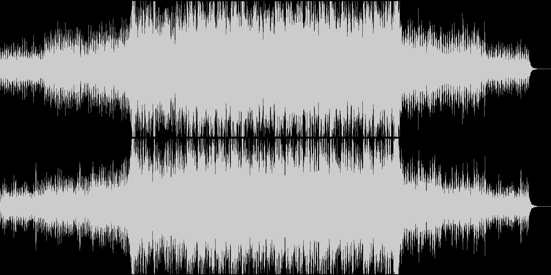 段々迫力が増していく映画音楽系ループの未再生の波形