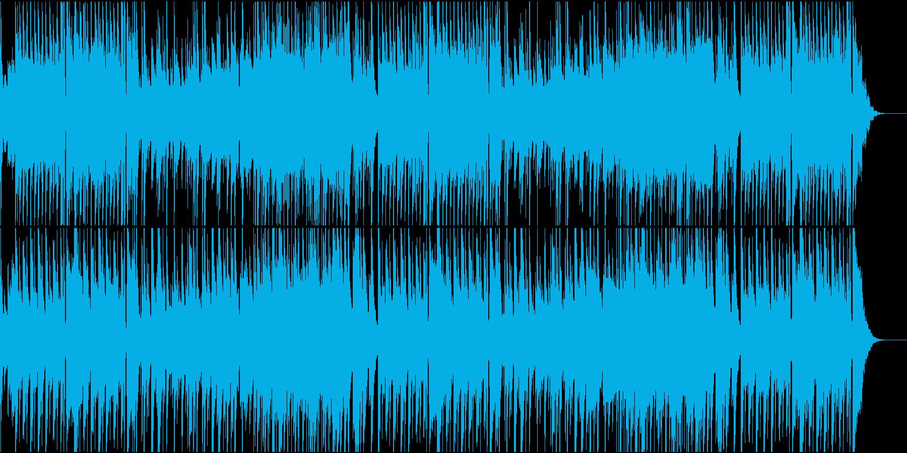 ピアノ主体の優しいBGMの再生済みの波形