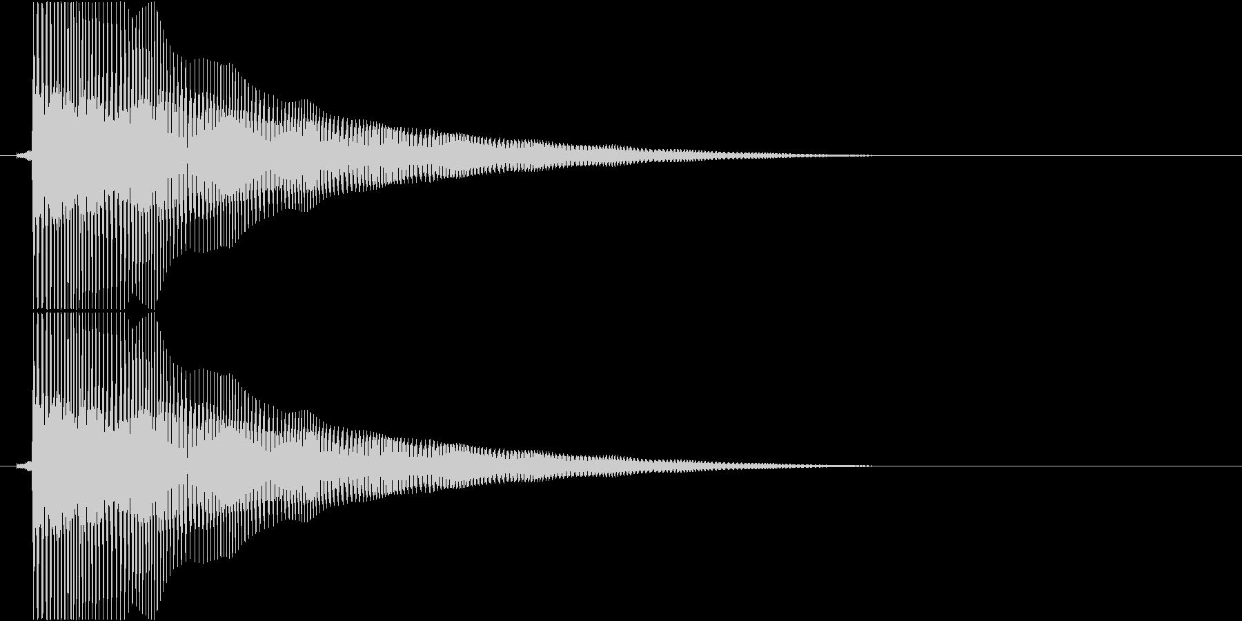 ビヨヨヨヨーン…(バネ、まぬけ、低い)の未再生の波形