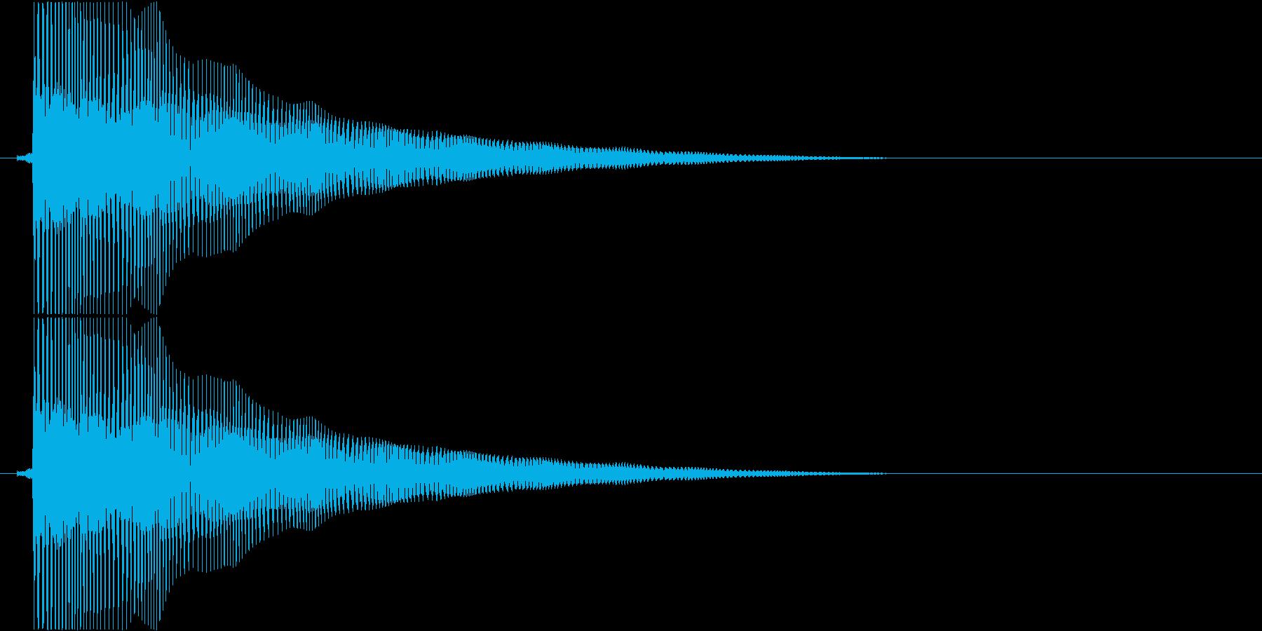 ビヨヨヨヨーン…(バネ、まぬけ、低い)の再生済みの波形