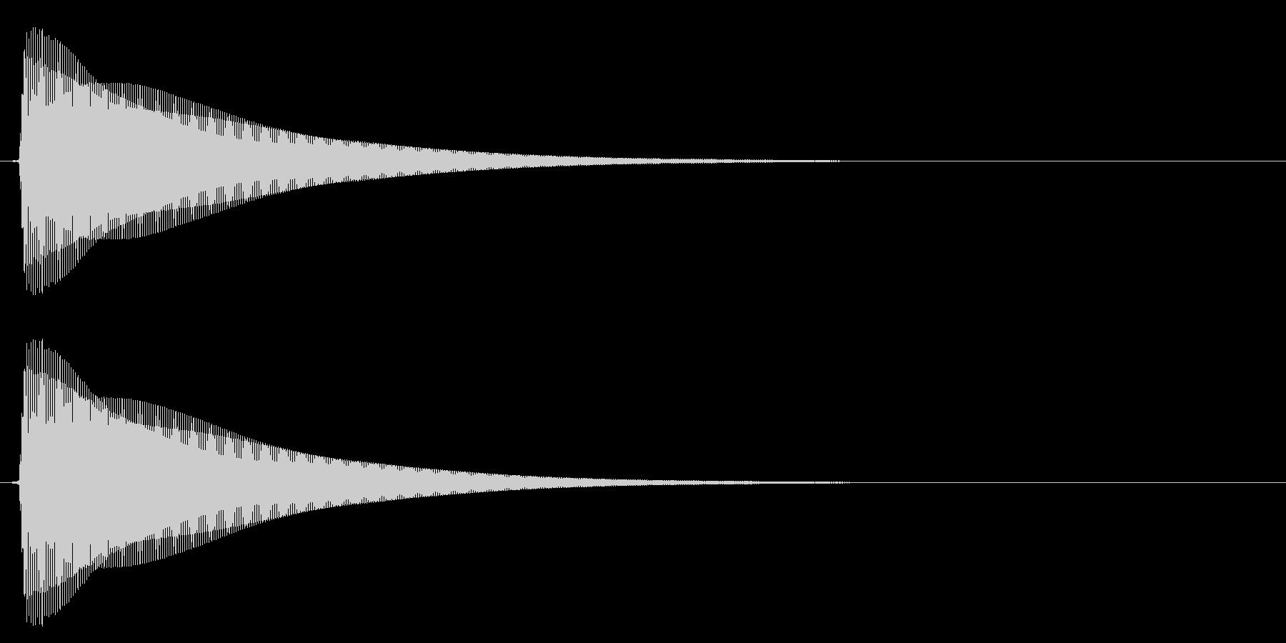 木琴/シンプル/決定音の未再生の波形