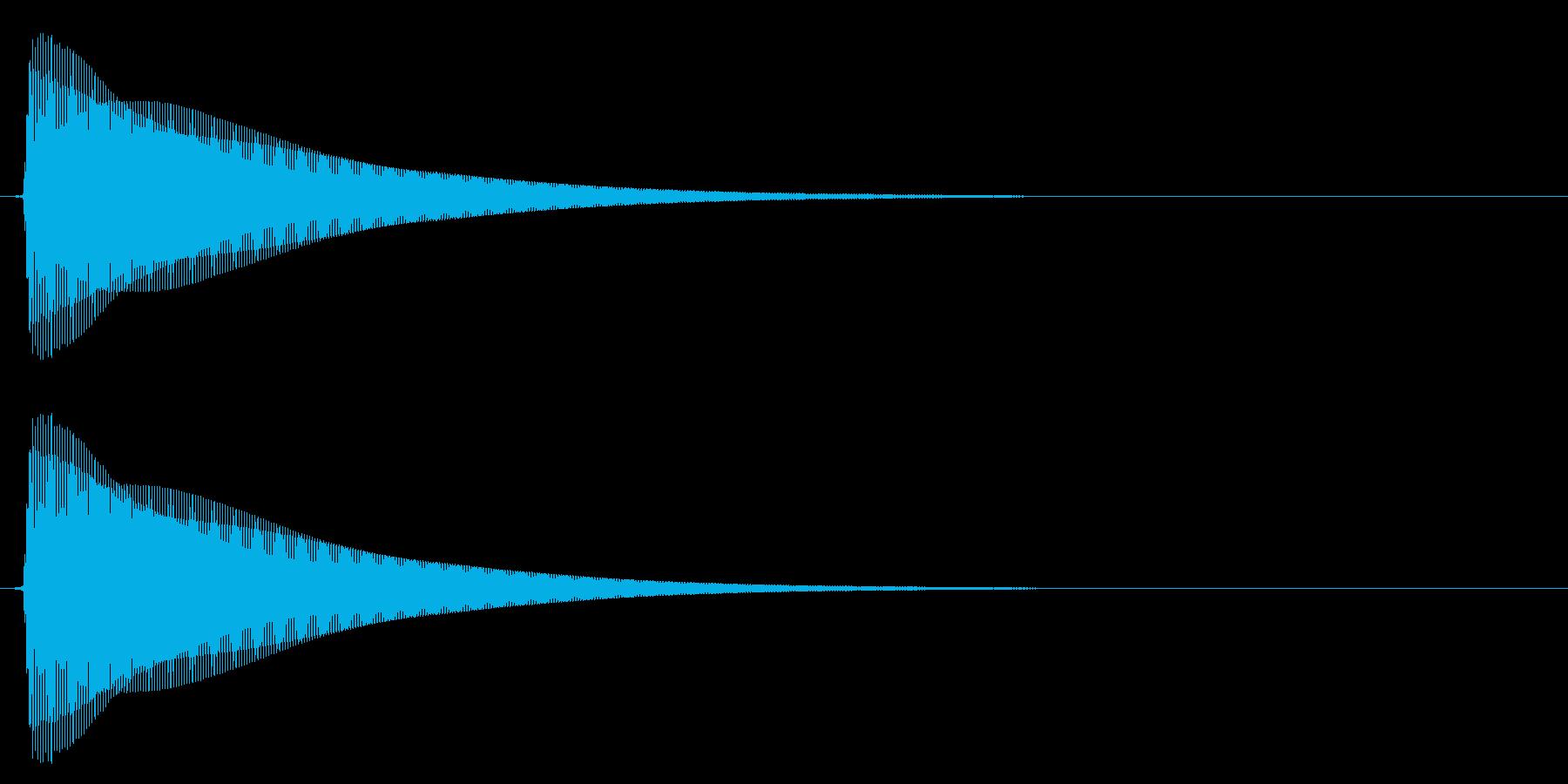 木琴/シンプル/決定音の再生済みの波形
