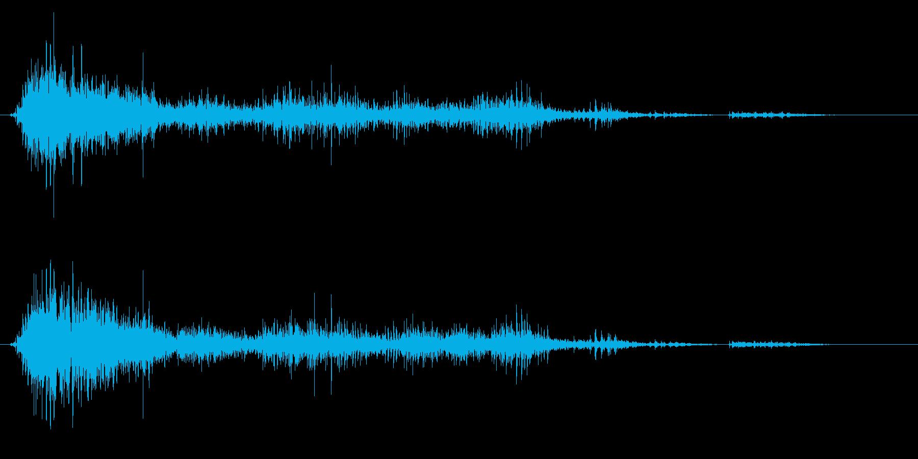 ゾンビやモンスターの叫び声/唸り声21cの再生済みの波形
