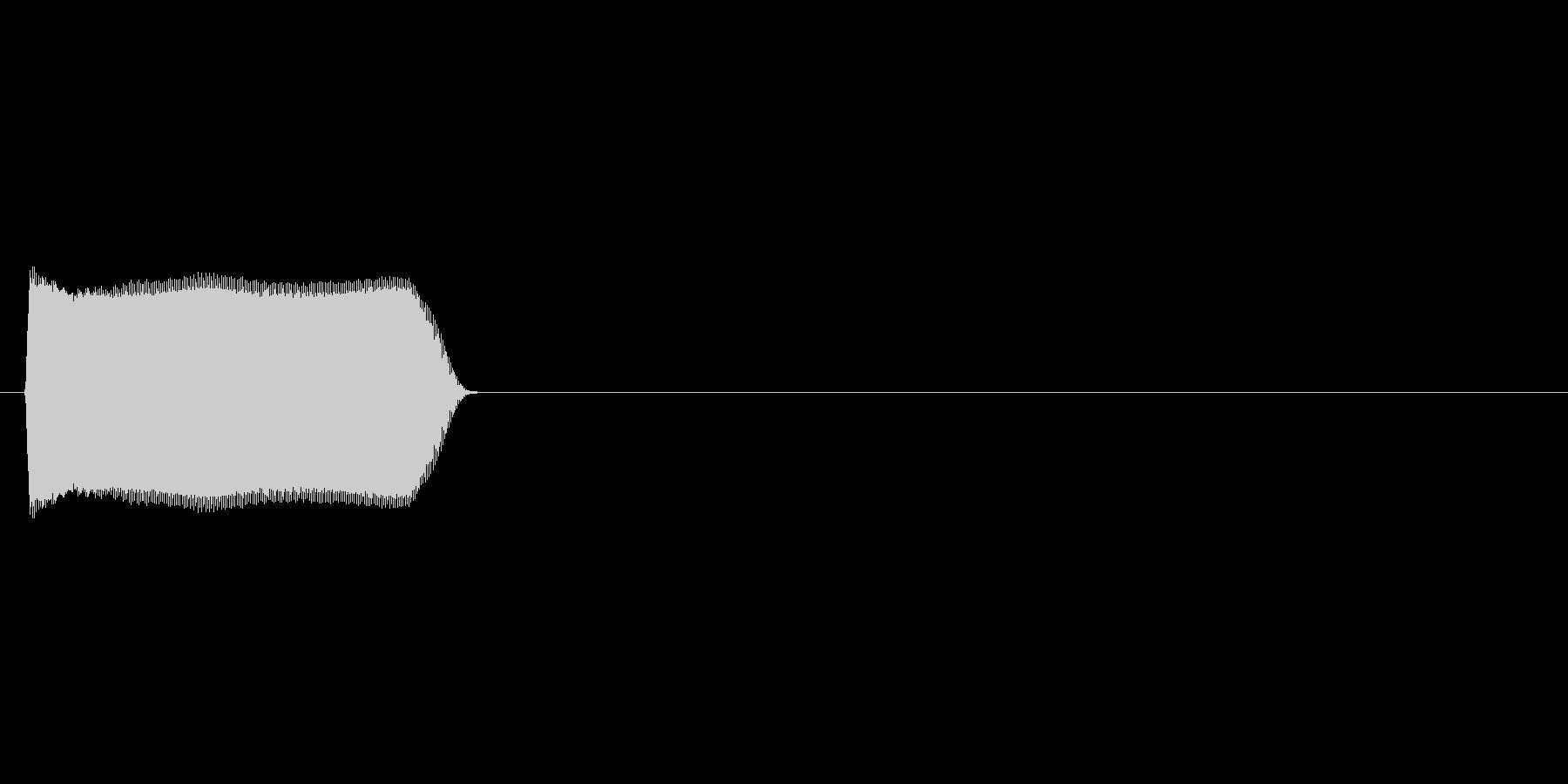 プーッ(クラクション、車)の未再生の波形