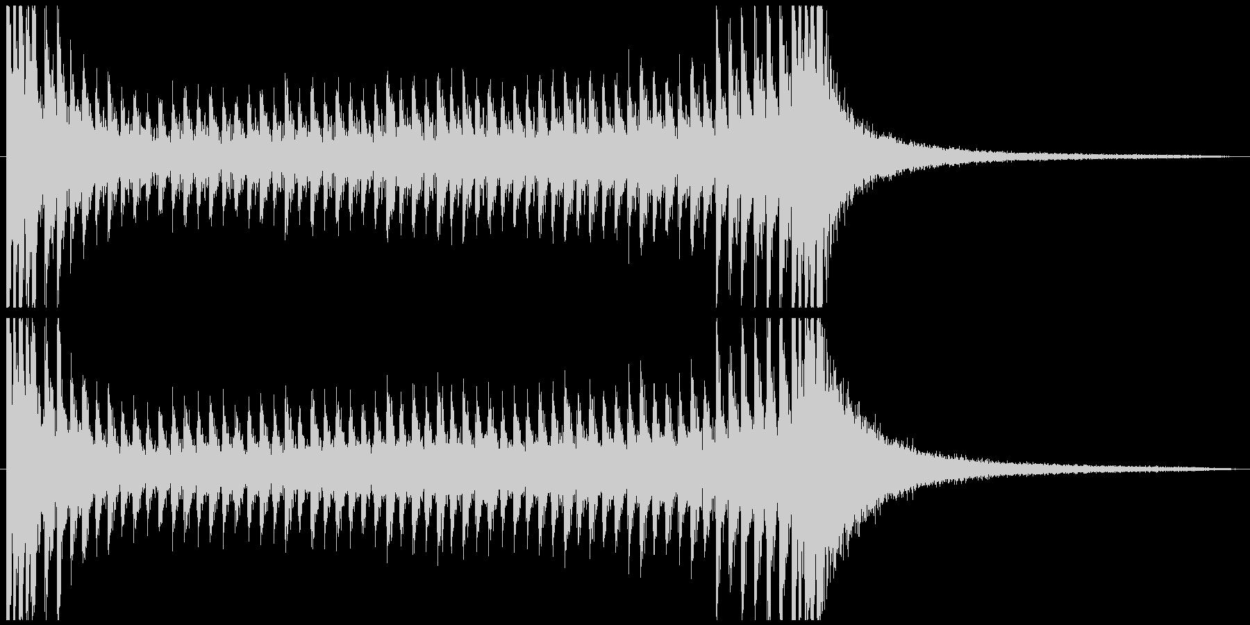 ドラムロール スネア 抽選 結果発表の未再生の波形