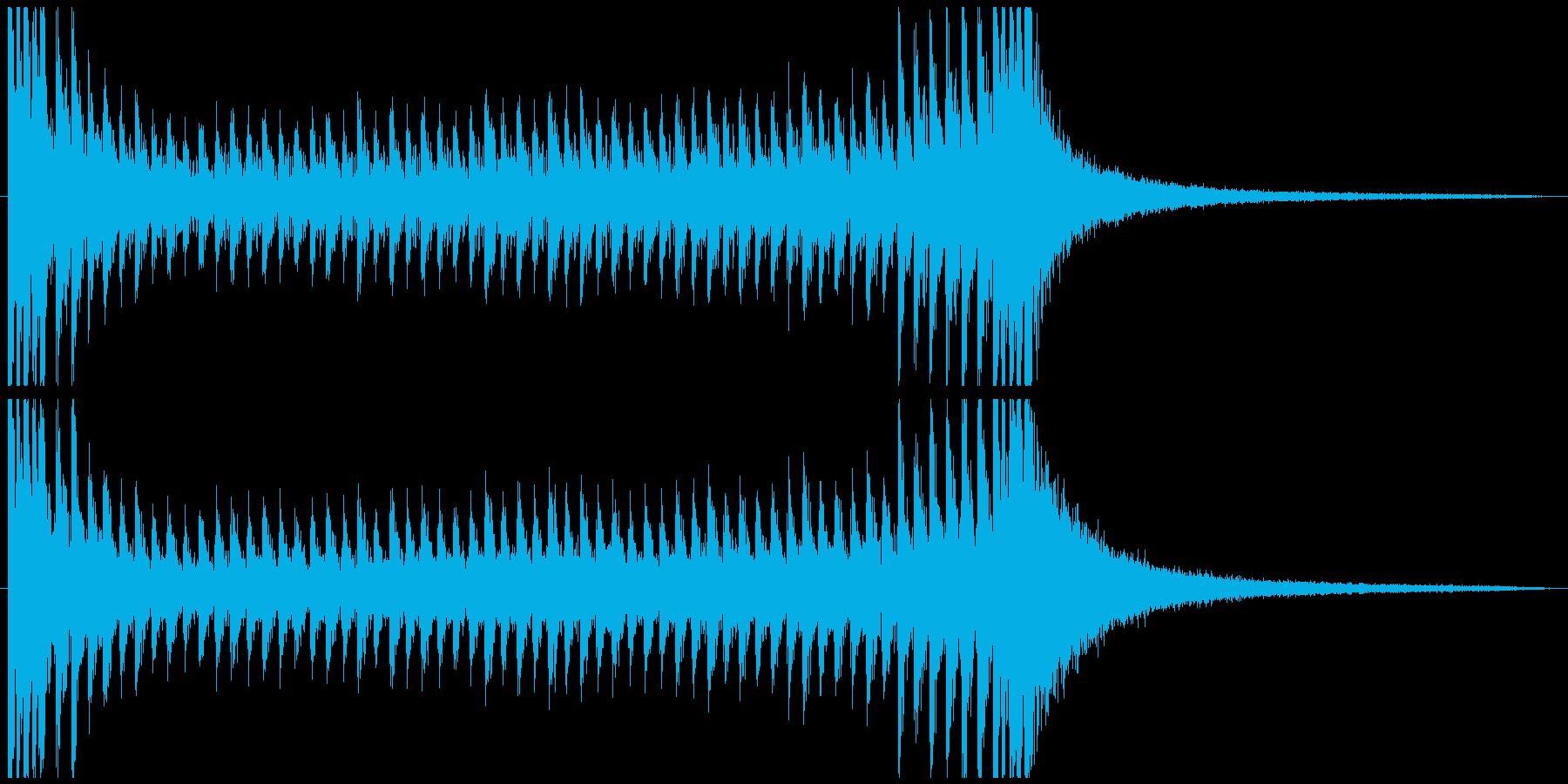 ドラムロール スネア 抽選 結果発表の再生済みの波形