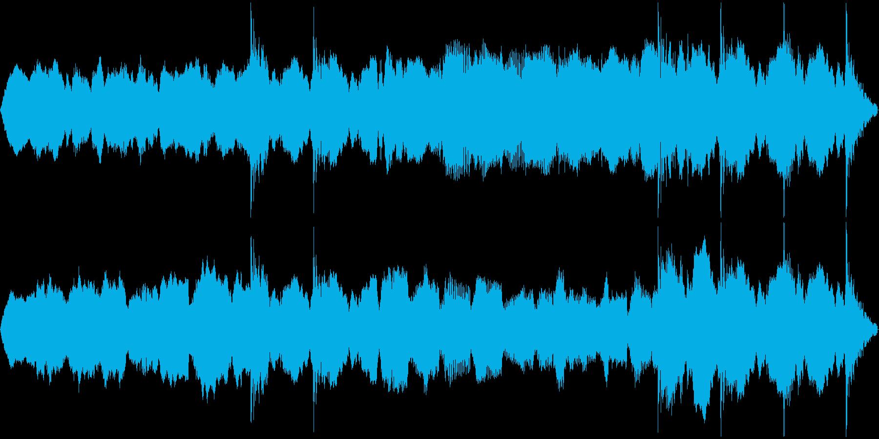 不穏な雰囲気、ホラー系のBGMの再生済みの波形