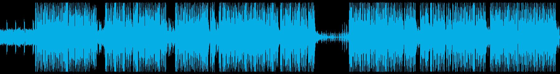 アップテンポでジャズっぽいテクノの再生済みの波形