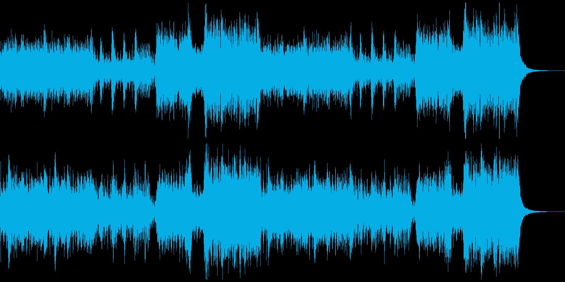 日常、アニメ、お笑い系、はちゃめちゃな曲の再生済みの波形