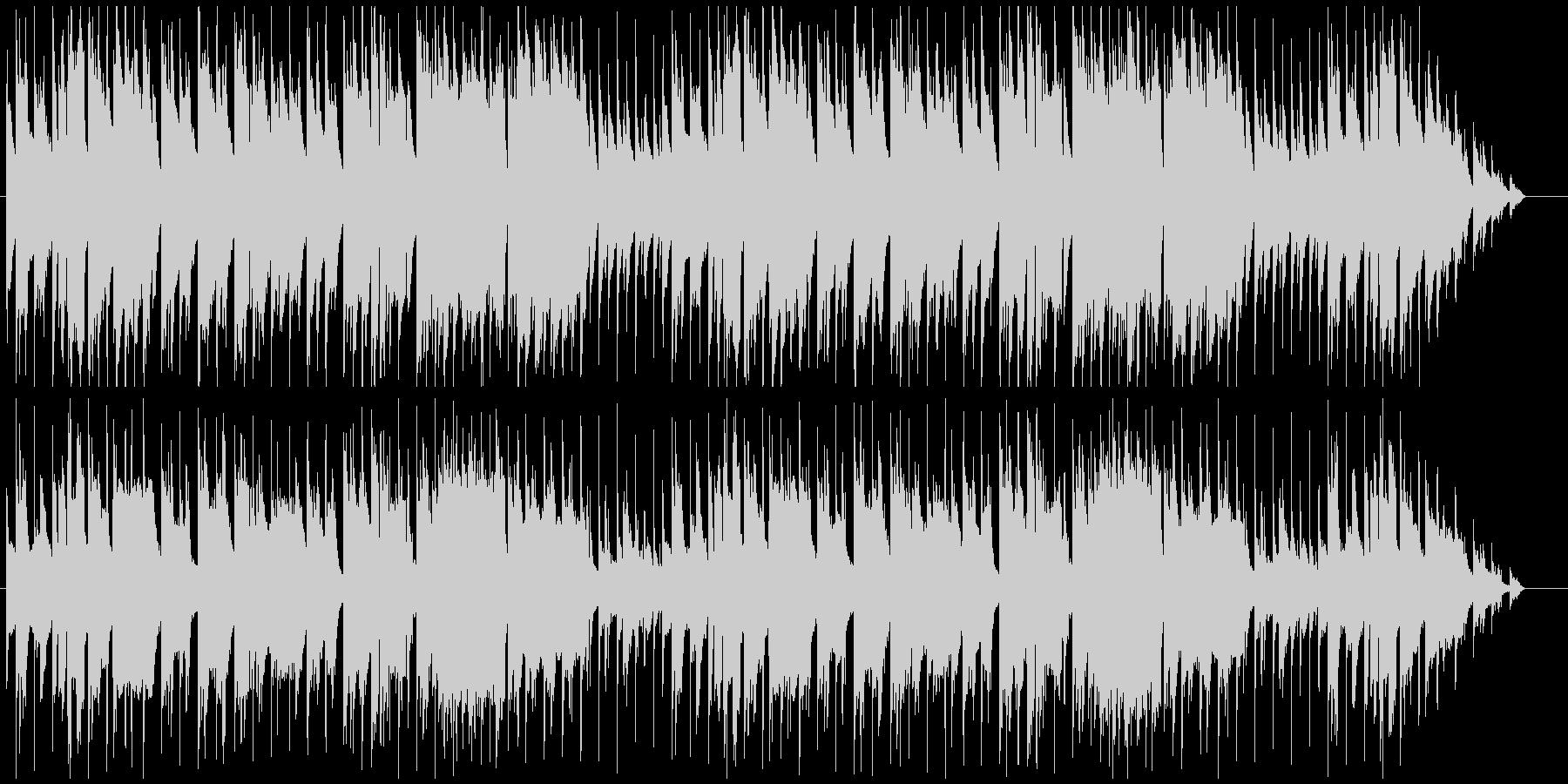 落ち着いた雰囲気のジャズ風BGMの未再生の波形