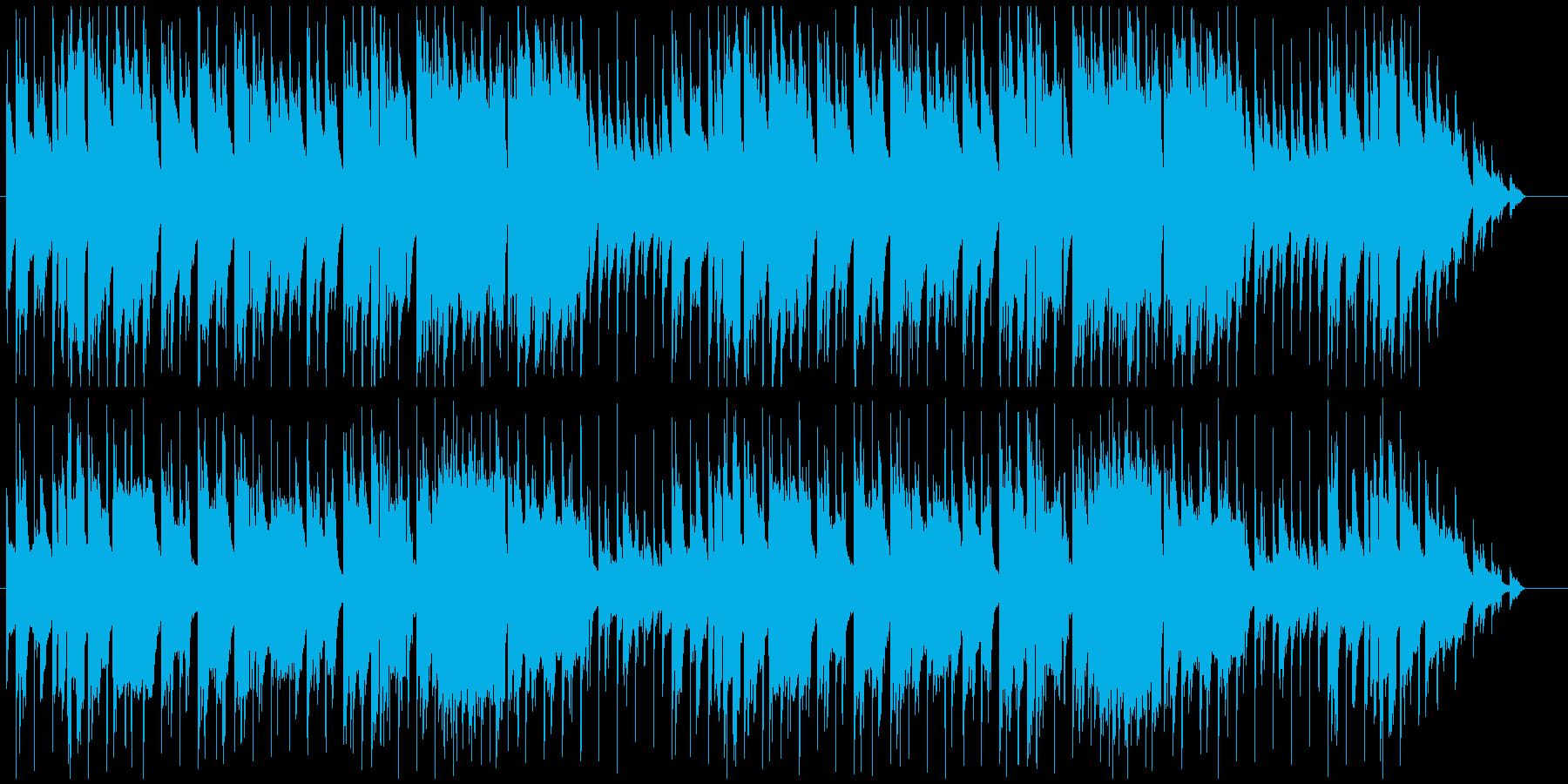 落ち着いた雰囲気のジャズ風BGMの再生済みの波形