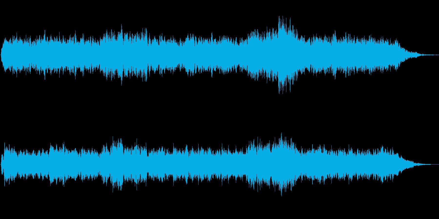 ほのぼのとしたシンセのジングルの再生済みの波形