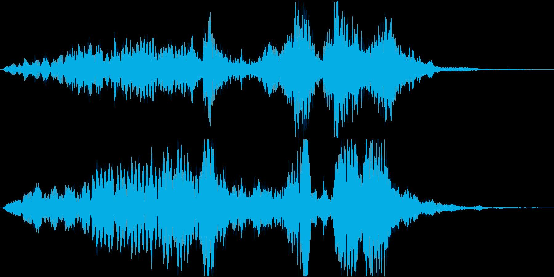 【SE 効果音】不気味な音8の再生済みの波形