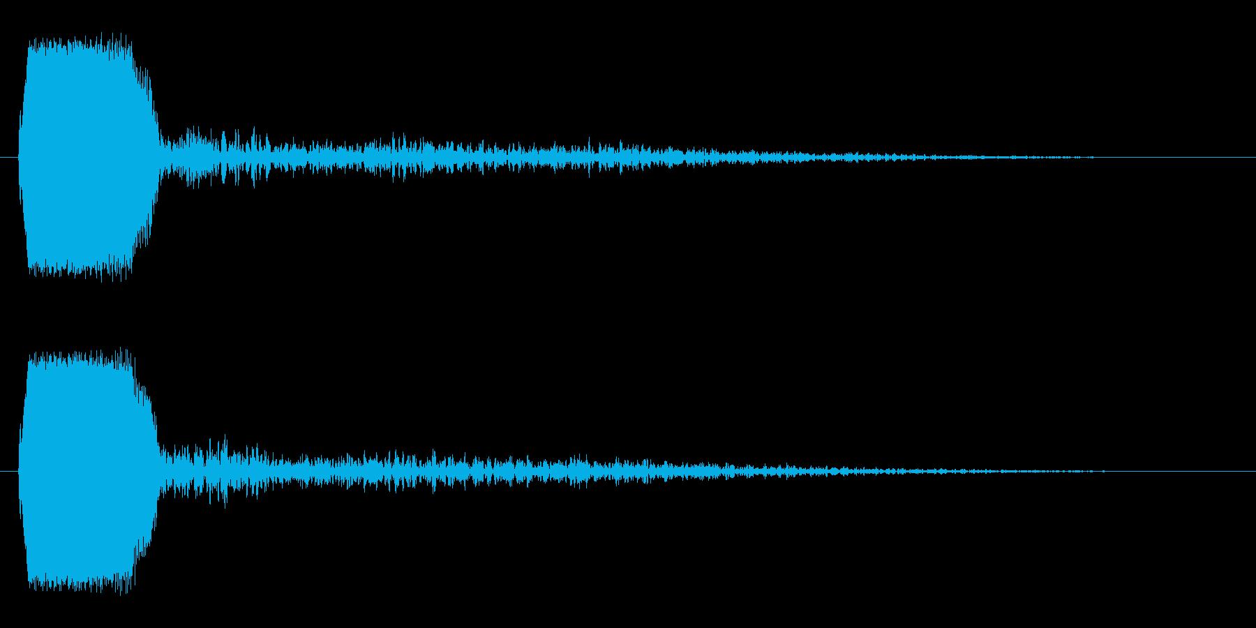 短くて高いさえずりのような音の再生済みの波形