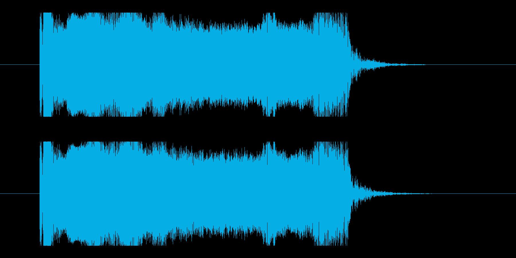 ユニゾンチョーキング、エレキギター音の再生済みの波形