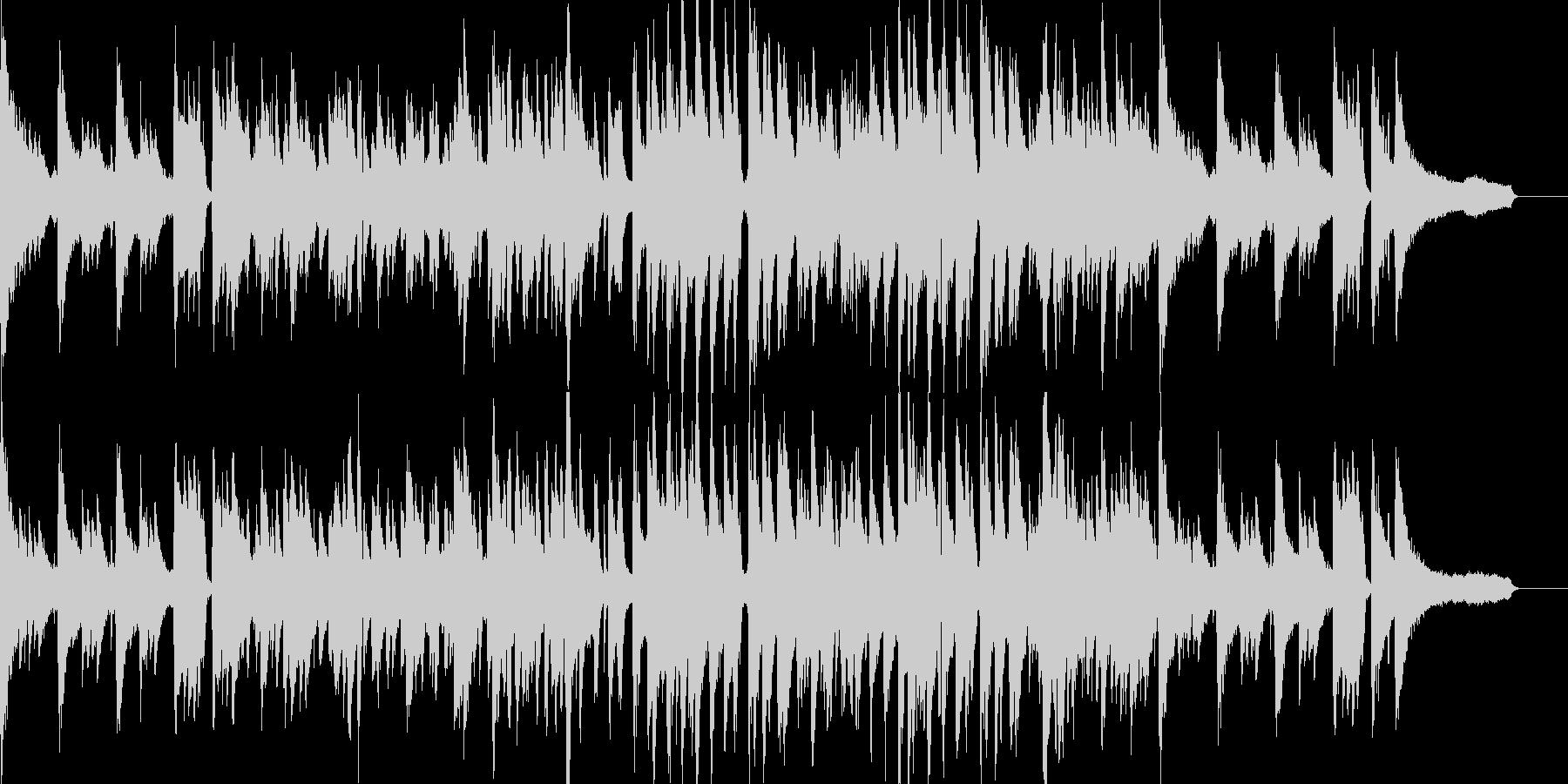 ピアノが印象的な前向きで大人なジャズの未再生の波形