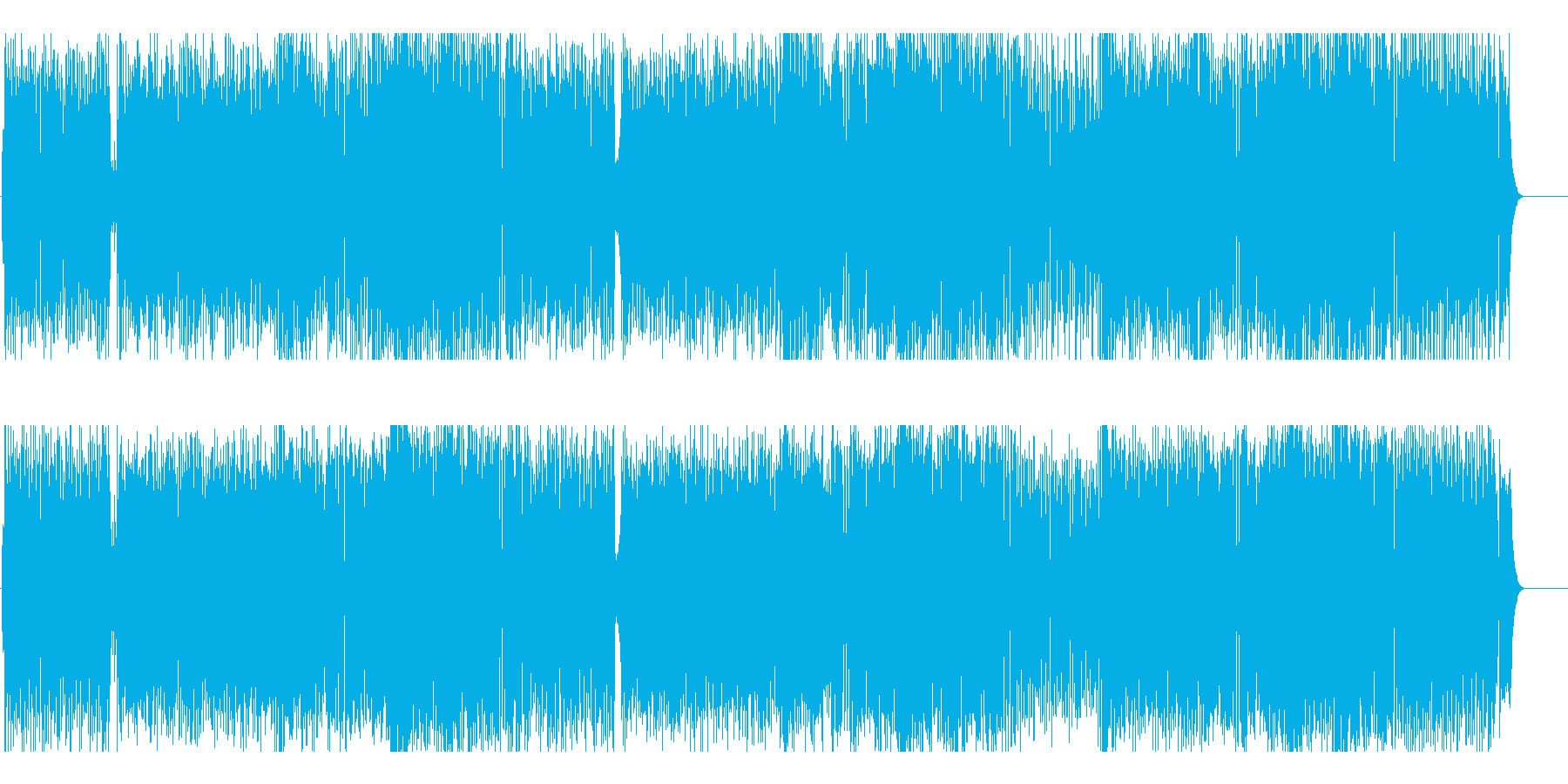 にぎやかで元気な明るいロックの再生済みの波形