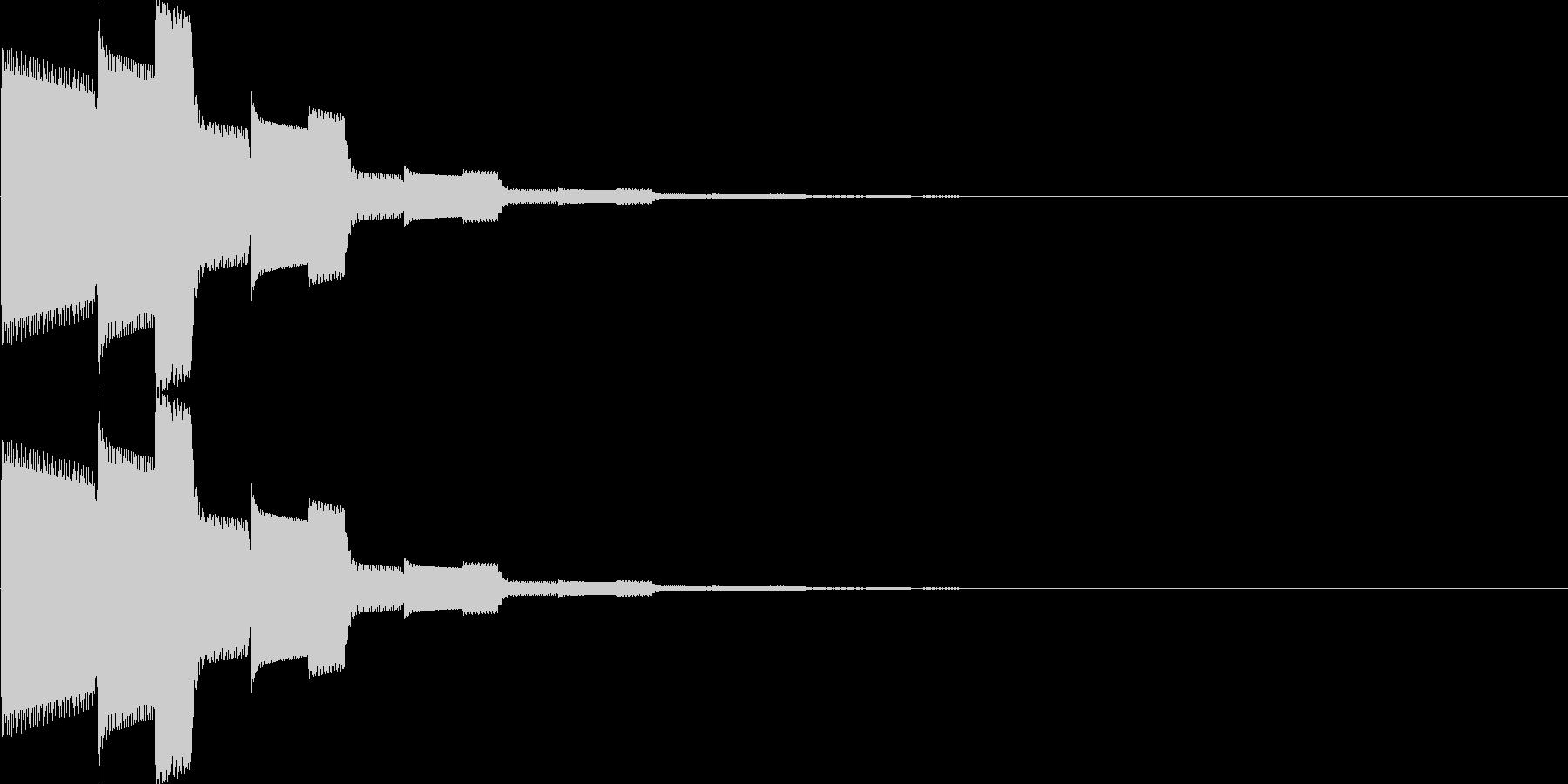 カーソル移動、決定(ピロローン)の未再生の波形