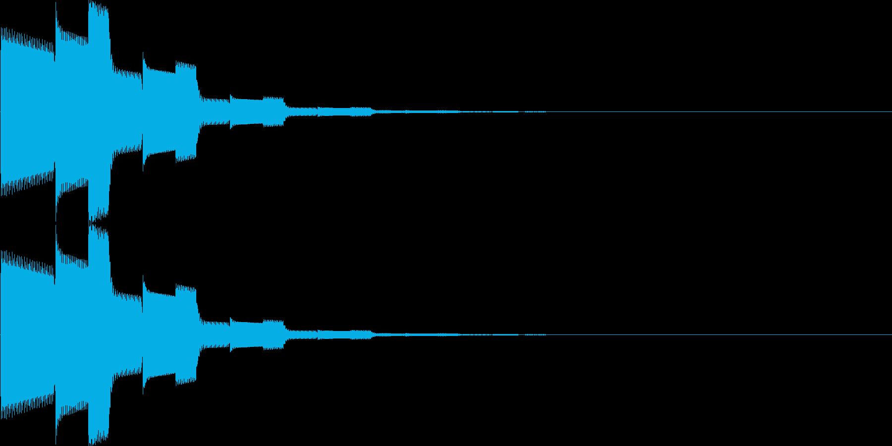 カーソル移動、決定(ピロローン)の再生済みの波形