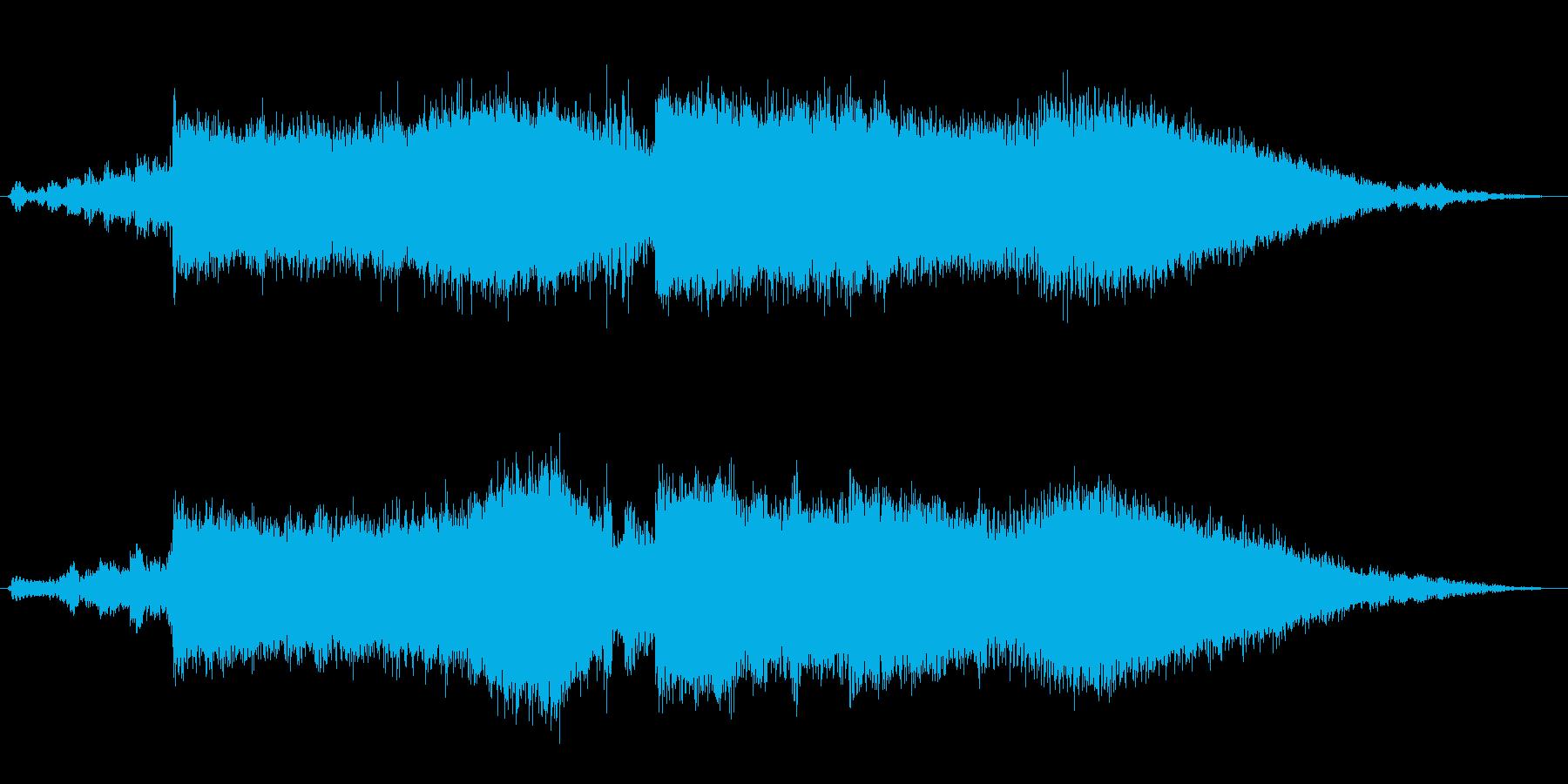 召喚魔法のようなSE の再生済みの波形