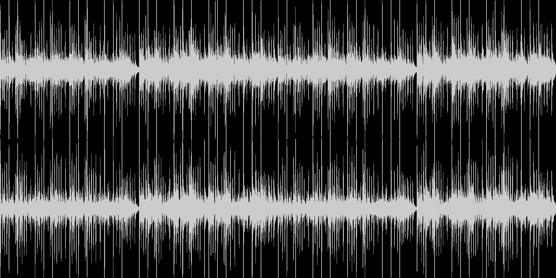 静かなエスニックBGMの未再生の波形