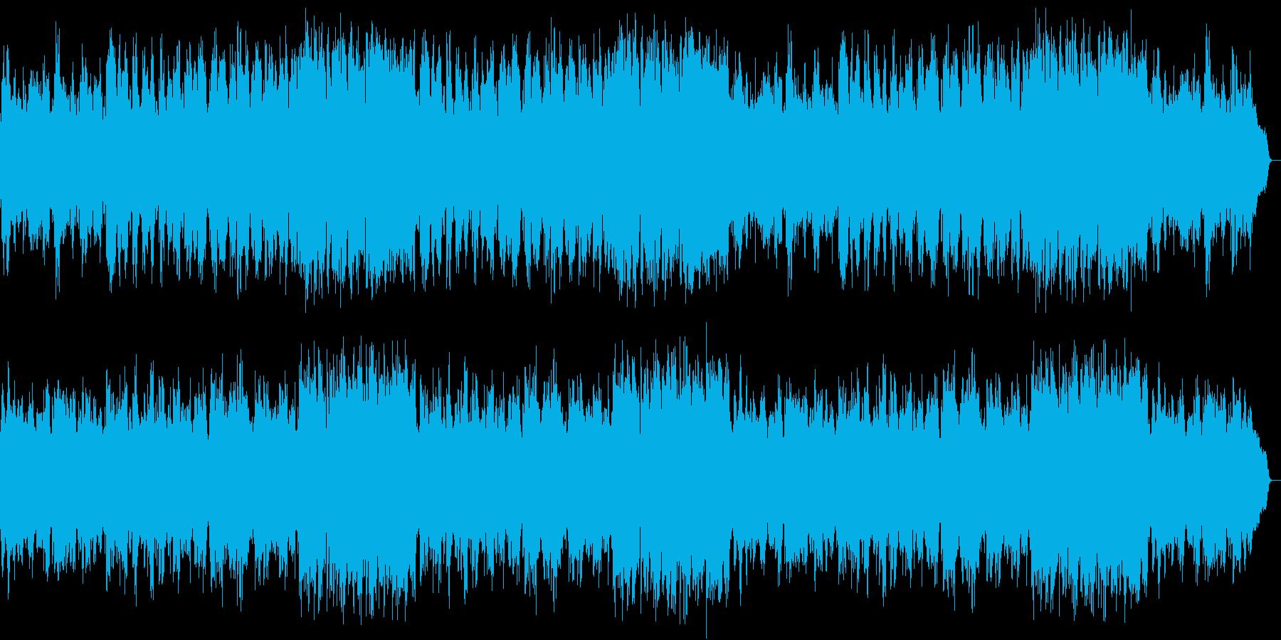 ミステリードラマの主題歌の様なムード歌謡の再生済みの波形