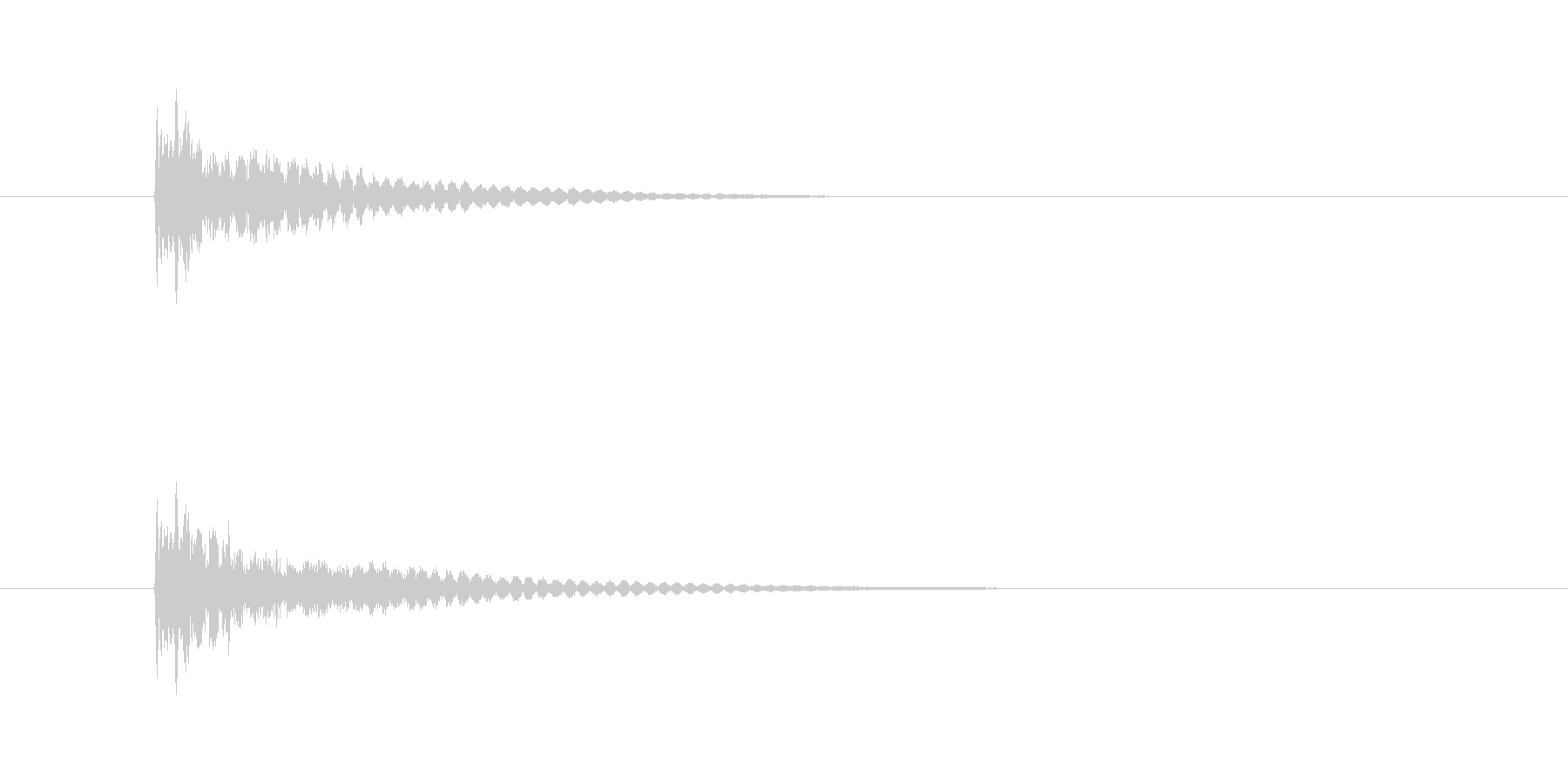 テレンの未再生の波形